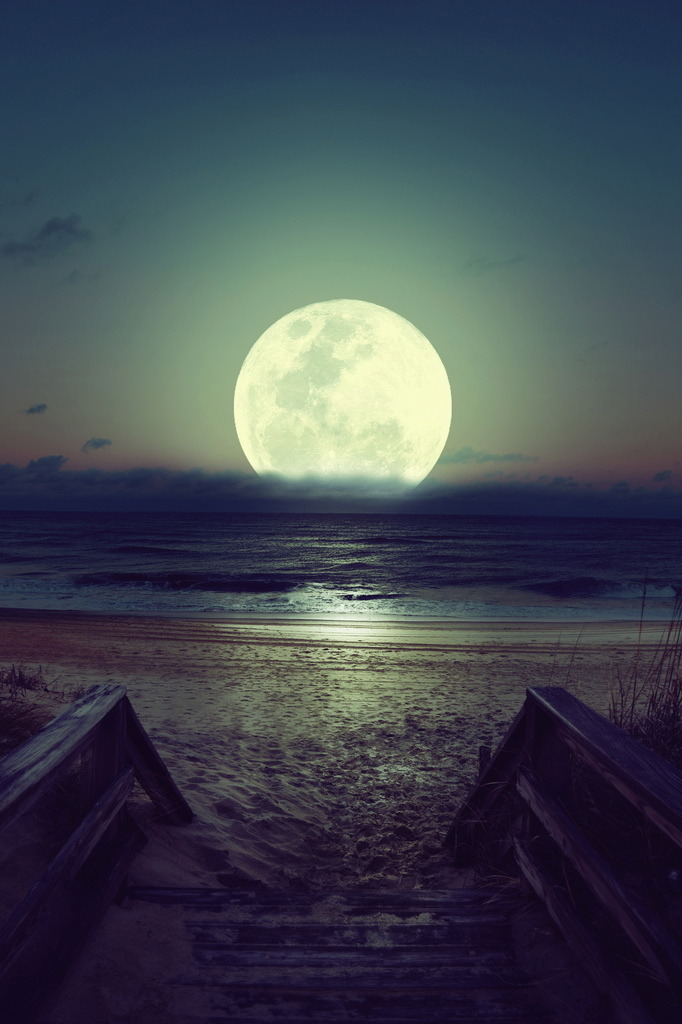 rim-runner:  Beach moon