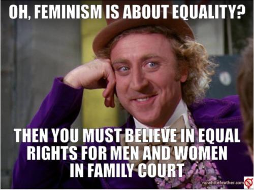 "dismantlexsjwsxfeminism: ""Sarcastic Wonka feminist edition """