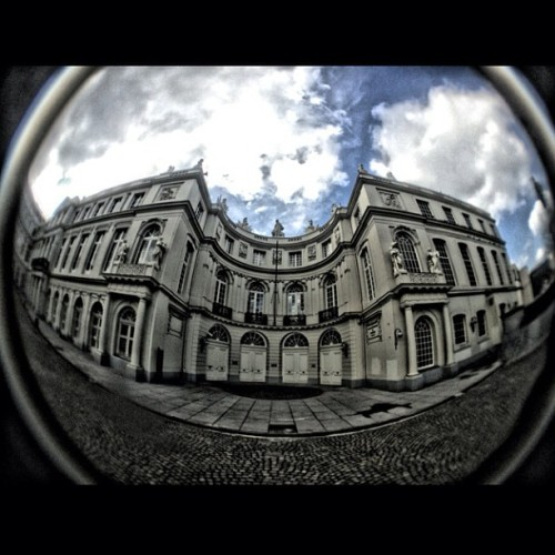djlennyducano:  A shot of #Belgium from my #EuroTrip 2013. #IproLens #FishEye #CloudPorn
