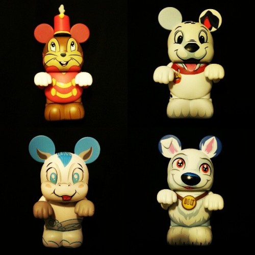 …my 4 favorite vinylmations from the Whiskers & Tales Series. #timothy #bolt #pegasus #lucky #Disney #disneystore #vinylmation #whiskersandtales #addiction
