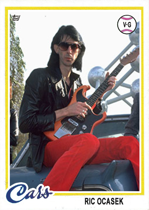 Ric Ocasek the Cars 1978 Topps Rock and Roll Hall of Fame