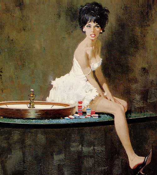 grown-up-art:  Robert McGinnis _ The only Girl in the Game by uk vintage on Flickr.