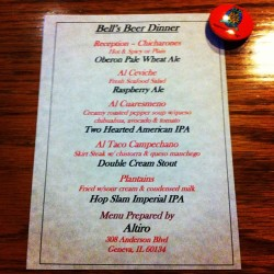 Menu from last night's @BellsBrewery #beer dinner @GammonHouse.