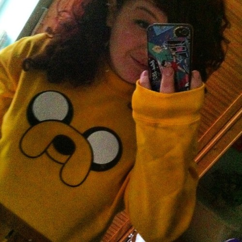 My Jake the dog jumper came in the mail today! #adventuretime #jakethedog