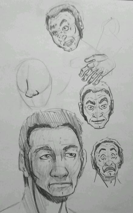 Character's face practice/quick sketches/expressions from a future project. And unfinished other things… I had been drawing this guy with long red (and vibrant red at that) for so long. At some point I gave him shorter hair, and it worked… Enough rambling for now. #artistsontumblr #art #mandude #sketches #tags #hash