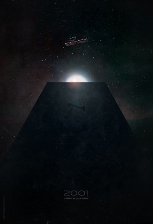 2001 A Space Odyssey alternative movie poster designed by Jason K. H., theliondesign.com