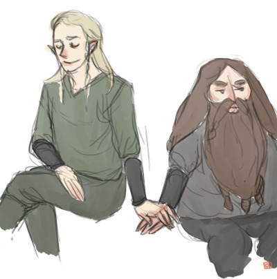 My OTP in LOTR, Legolas/Gimli! :D I read some people saying that they can't look at this pairing (everybody got its taste, of course, I'm not against it) but just because Legolas is too much beautiful for Gimli. Eeeh no.  Nobody had tell you that you can still like a person even if this person is 'ugly' 'not handsome' 'very different from you' etc? That even the personality of that person matters? How this person is? Okay, I'm rumbling, but this kind of messages worries me. Maybe I'm old. Sorry for the digression!