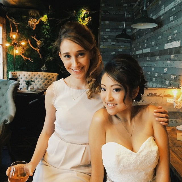 the most beautiful bride i ever did see…mrs. yang!! #jessandalexyang #vscocam