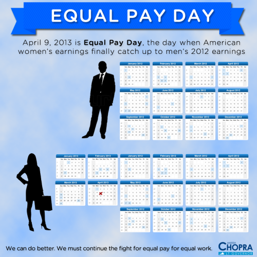 Today is Equal Pay Day, the day when American women's wages catch up to men's 2012 wages. I was proud to work with Secretary of Labor Hilda Solis to provide American women with more information to help close the wage gap. As your Lieutenant Governor, I will fight for paycheck equality in Virginia. There's still a lot of work to do, but I want to ensure that my daughters grow up in a Virginia where they have the same opportunities for success as everyone.