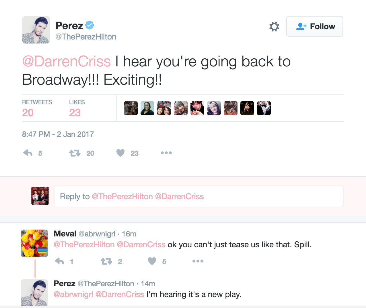 broadway - Darren Appreciation Thread: General News about Darren for 2017 Tumblr_oj6jaqjJAa1qkrnhgo1_1280