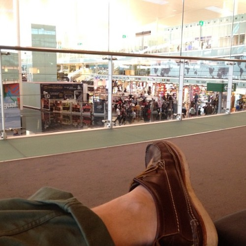 It was 21 degrees in Barcelona. It's not in London… (at Terminal 1)