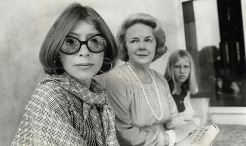 "commovente:  ""Women who encountered Joan Didion when they were young received from her a way of being female and being writers that no one else could give them. She was our Hunter Thompson, and Slouching Towards Bethlehem was our Fear and Loathing in Las Vegas. He gave the boys twisted pig-fuckers and quarts of tequila; she gave us quiet days in Malibu and flowers in our hair. ""We were somewhere around Barstow on the edge of the desert when the drugs began to take hold,"" Thompson wrote. ""All I ever did to that apartment was hang fifty yards of yellow theatrical silk across the bedroom windows, because I had some idea that the gold light would make me feel better,"" Didion wrote. To not understand the way that those two statements would reverberate in the minds of, respectively, young men and young women is to not know very much at all about those types of creatures. Thompson's work was illustrated by Ralph Steadman's grotesque ink blots, and early Didion by the ravishing photographs of the mysterious girl-woman: sitting barelegged on a stone balustrade; posing behind the wheel of her yellow Corvette; wearing an elegant silk gown and staring off into space, all alone in a chic living room."" -Caitlin Flanagan, The Autumn of Joan Didion  I take my quiet days in Malibu with quarts of tequila, so I prefer these excerpts:  Didion's genius is that she understands what it is to be a girl on the cusp of womanhood, in that fragile, fleeting, emotional time that she explored in a way no one else ever has. Didion is, depending on the reader's point of view, either an extraordinarily introspective or an extraordinarily narcissistic writer. As such, she is very much like her readers themselves. ""I've been reading you since I was an adolescent,"" a distinctly non-adolescent female voice said on a call-in show a decade ago, and Didion nodded, comprehending. All of us who love her the most have, in ways literal and otherwise, been reading her since adolescence. … What Didion wrote about were the exquisitely tender and often deeply melancholy feelings that are such a large part of the inner lives of women and especially of very young women—and girls—who are leaving behind the uncomplicated, romance-drenched state of youth and coming to terms with what comes next. Didion's sensibility is like that of the young Joan Baez, whom she encountered in 1965: ""Above all, she is the girl who 'feels' things, who has hung on to the freshness and pain of adolescence, the girl ever wounded, ever young."" She herself had once been the girl with ""skirts too long, shy to the point of aggravation … full of recriminations and little hurts and stories I do not want to hear again."""