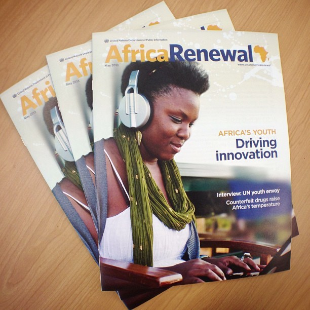Yay! Just got the first print copies of the May 2013 issue of Africa Renewal!