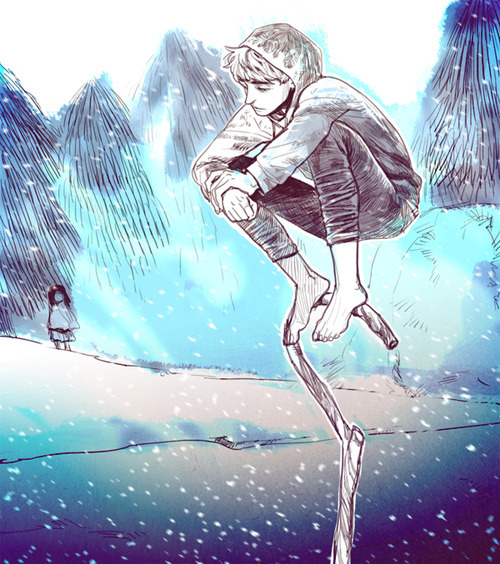lunarblue21:  ask-the-sandman:  keumza:  so cold.  (( Then you see Emma in the background.   ))  /sobs