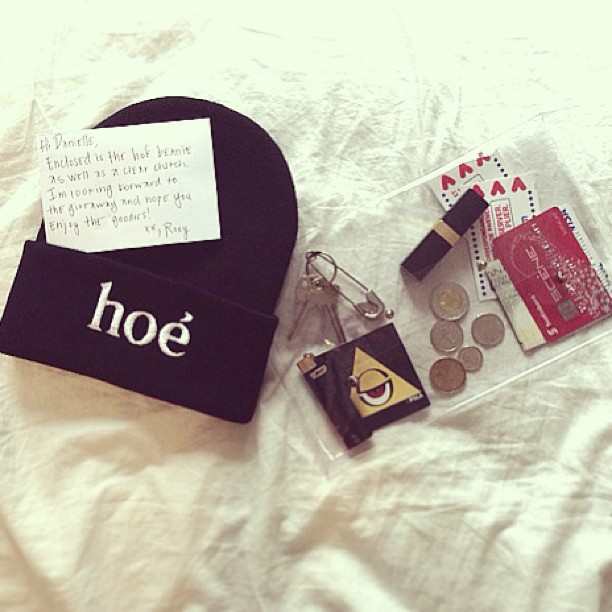 Giveaway: Enter to win the 'Hoé Beanie' from Twice Lux. & don't forget to check out their online shop as well to purchase this killer clear clutch.  *Take note of these cool peeps too: Pyramidscheme  (taken with instagram)