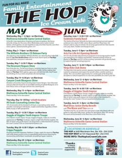 Full May-June Event Calendar for The Hop(s)!!! #asheville #avlent