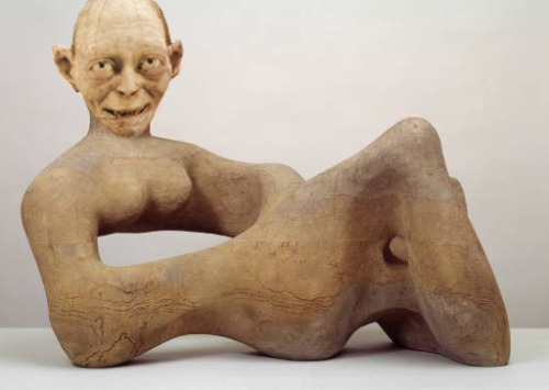 Gollum's Precious Recumbent Figure Artist: Henry Moore (Recumbent Figure' 1938) Villain: Gollum (Lord of the Rings)
