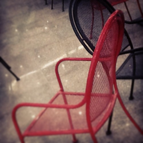 Steel Chair Red and Black (at Ezdan Mall)