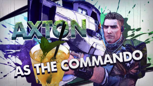 "Axton / The Commando (Borderlands 2 cocktail) Ingredients:1.5 oz Bourbon.5 oz Southern Comfort.5 oz Lemon juice1 teaspoon Runny honey1 sprig Lemon balm Directions: Fill an old fashioned glass/rocks glass with ice. Fill a cocktail shaker with ice. Add the bourbon, southern comfort, lemon juice and runny honey to the cocktail shaker and shake. Strain over the ice in the old fashioned glass/rocks glass and garnish with a sprig of lightly bruised lemon balm. ""YOU get a bullet! And YOU get a bullet! EVERYBODY gets a bullet!""  Drink created and photographed by Manuka Cliffe."