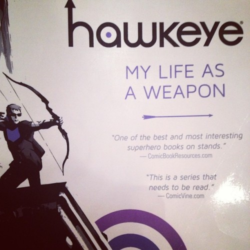 I can't wait to read this :) #hawkeye #comic #marvel #love #meow