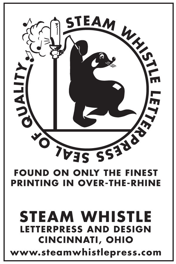 steamwhistlepress:  Steam Whistle Letterpress Seal of Quality. Over-The-Rhine, Cinti O.  If it doesn't have the Seal of Quality, don't trust it.