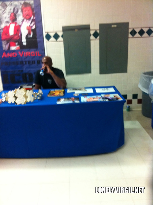Virgil was at a Signamania wrestling convention. So were a lot of other people. Just not around him.