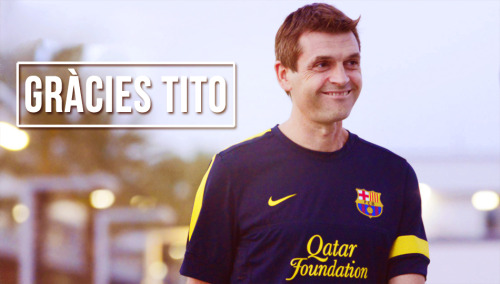 captainpuyi:  Tito Vilanova is  the first coach in history to win the Spanish league title with his team at #1 from the first week till the last.