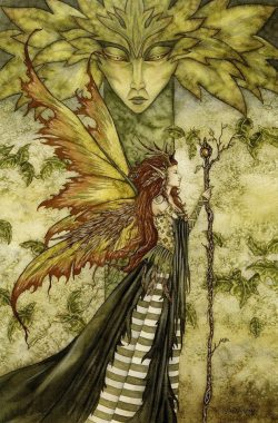 klacindacrystal:  The green Woman by Amy Brown | via Facebook on We Heart It - http://weheartit.com/entry/61363740/via/klacinda Hearted from: https://www.facebook.com/photo.php?fbid=649737075041514&set=a.468661499815740.126333.112848208730406&type=1&permPage=1