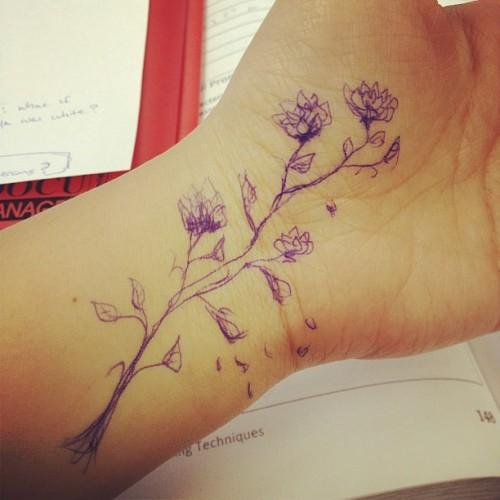 #bored #self #tattoo #flowers