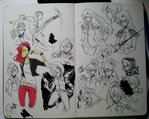 robopolis:  OCs and Majou shoujo doodles Also does anyone know of any markers that don't bleed through moleskine paper? Been looking for grey and colored markers to make drawing traditionally a bit more enjoyable.