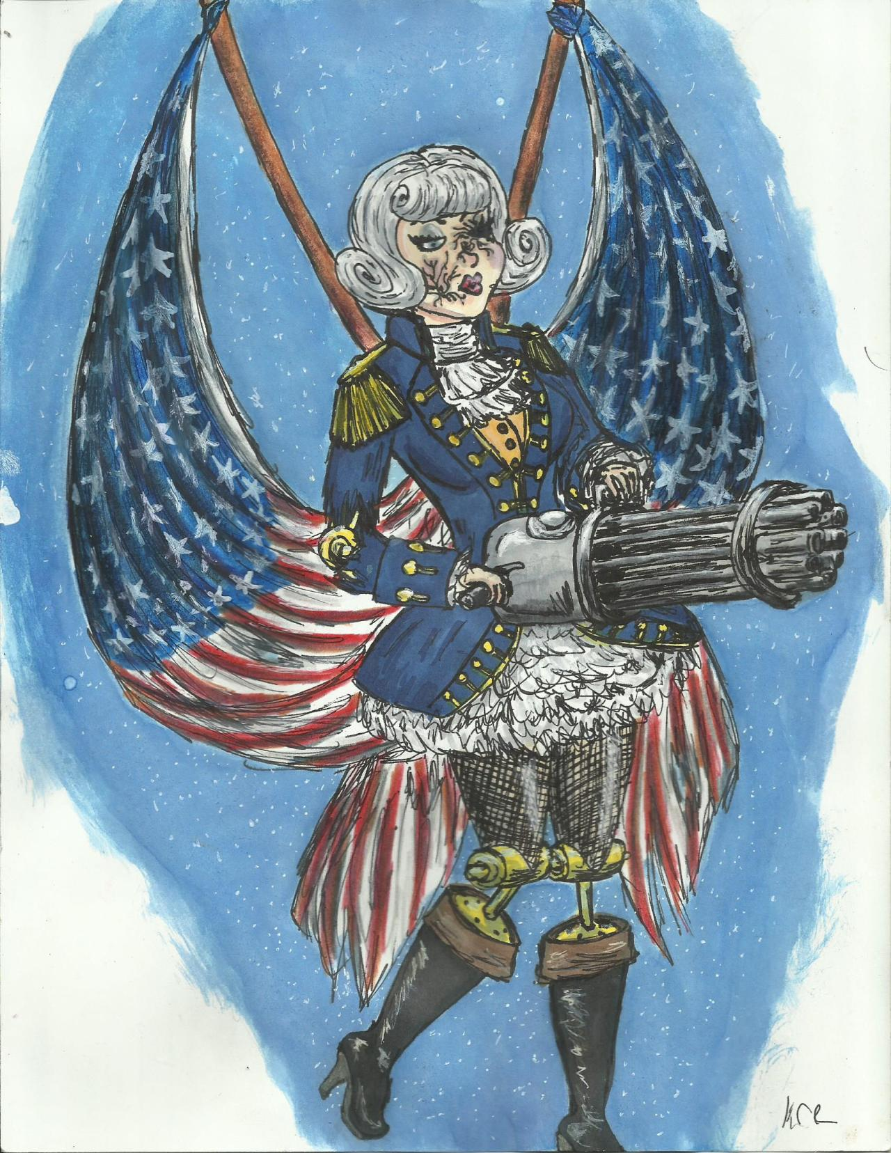 Lady Motorized Patriot who I kind of really REALLY want to cosplay but probably never will