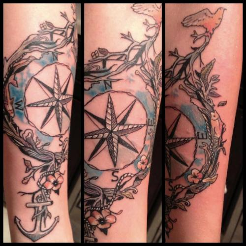 fuckyeahtattoos:  Tattoo done by Jimmy Bell at Inkphillers Studios in Oxnard, CA.  Submitted by rachelaldridge