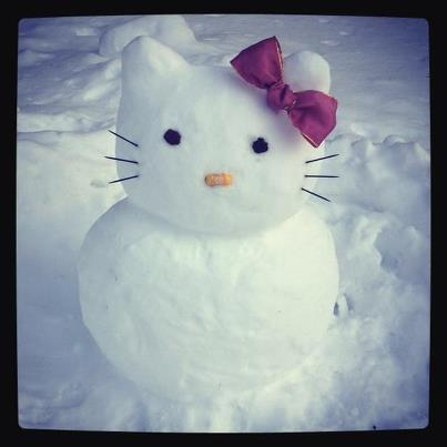 Hello Snow Kitty