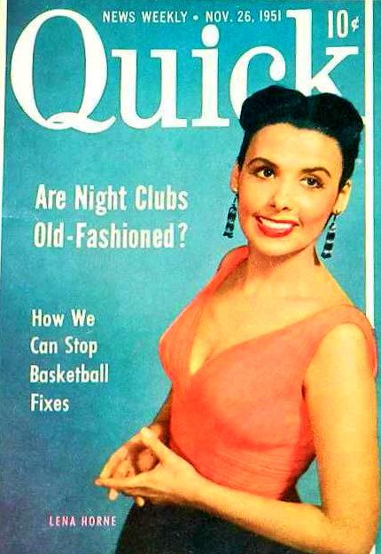 Dorothy Dandridge, Josephine Baker, & Lena Horne. (Quick Magazine, 1950s)