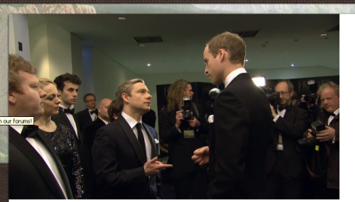 Prince William: And when the fuck is Sherlock coming back? Martin Freeman: Well…erm…  I'm writing fan fiction again you guys.