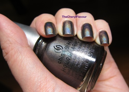thecherylflavour:  Swatch: China Glaze Galactic Gray Galactic Gray from the China Glaze Hologlam 2013 Collection See full post here