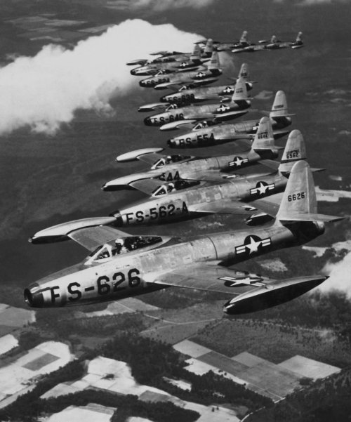 planeshots:  Formation flight Sunday. Republic's Thunderjets