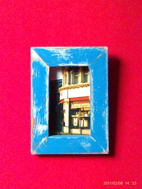 Framed photo.. Card corner(1986)..