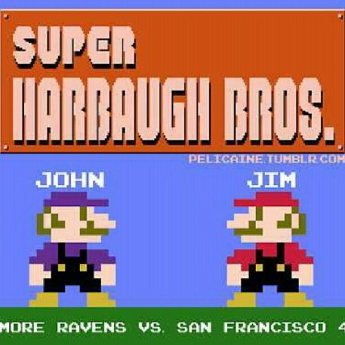 Thought this was appropriate. #sb47 #ninernation #Harbaughbros