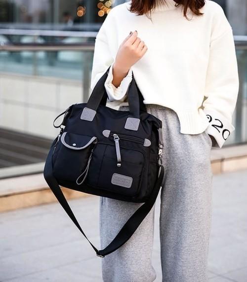 Nylon Carryall Bag #shoulder bags#travel bag#Bags#black bag#street fashion