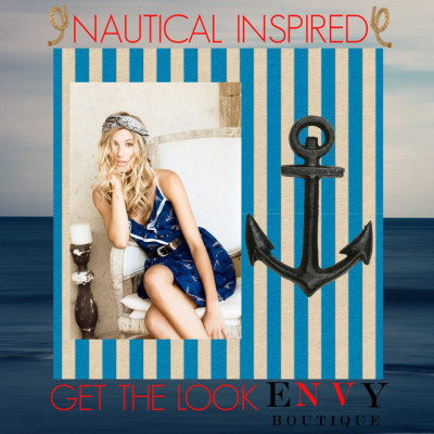Nautical Envy by dressup on PolyvoreJayson Home Black Anchor / Under The Sea Deep Sea Diver 12 x 12 Double-Sided Paper / Abstract Ocean Photograph, Navy Blue, Summer Landscape Photography,… / Chains, Connectors, Hooks, Ropes Straps
