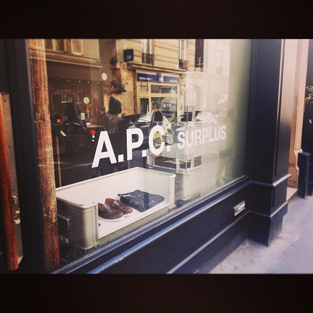 #apc #menswear #оргазмхипстора #paris  (в A.P.C. Surplus)