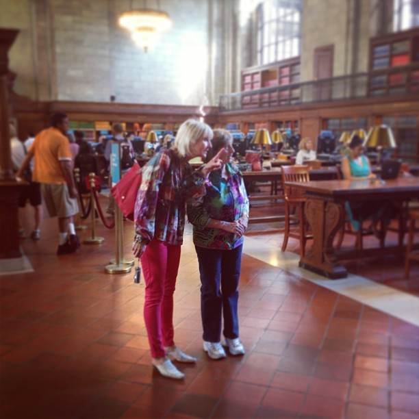 Mom and grandma admiring the library — #manhattan #newyork  (at New York Public Library)