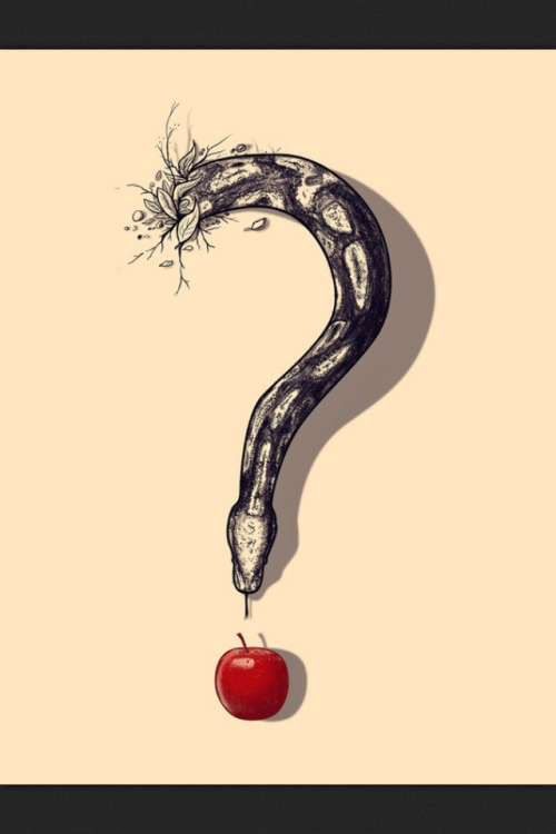 Question the snake who eats apples