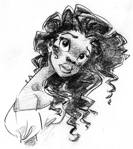 Animation Art — Tiana character designs for The Princess ...