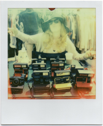 polaroidsf:  Camera hunting at the Alameda Flea Market.