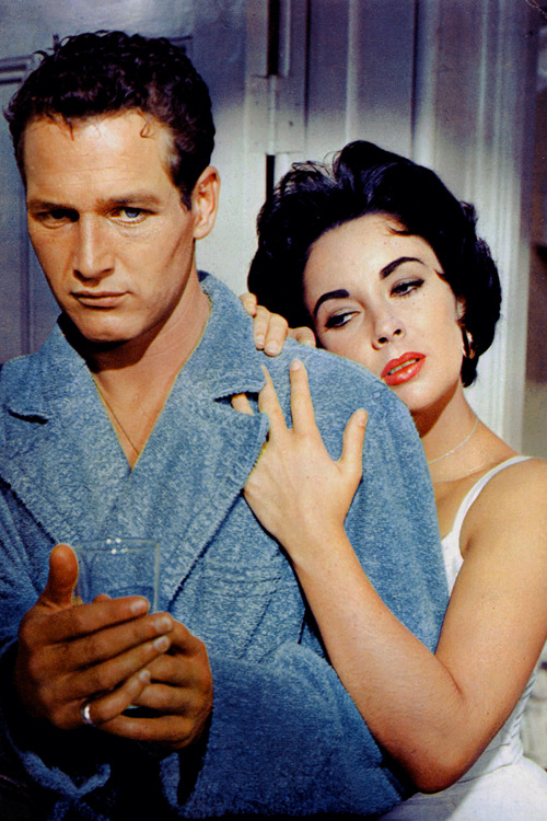Paul Newman and Elizabeth Taylor in Cat on a Hot Tin Roof (1958)