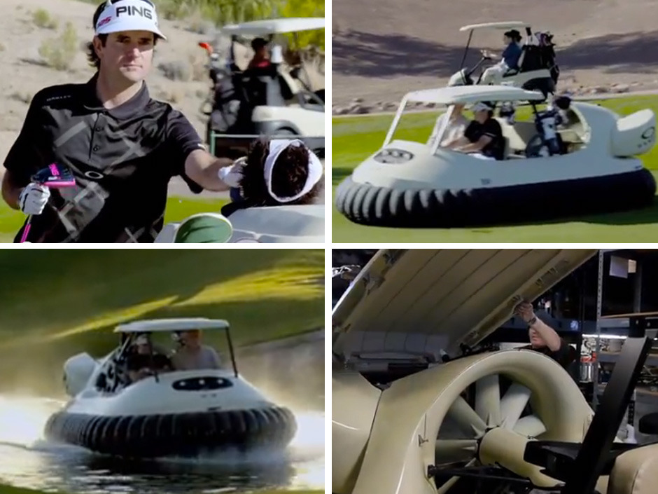 nationalpostsports:  BUBBA'S HOVER: Yes, the man now has a hovercraft. For the golf course. A hovercraft golf cart. This is a real thing and not an April Fool's Day joke. Really.