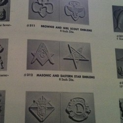 unbear:  Masonic sugar molds in a 1950s cake decorating book