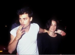 "floricawild:   morrissev:  ""He was so desperately in love with Winona, that when they broke up, he wouldn't admit it was over for the longest time."" - Tim Burton   favourites"